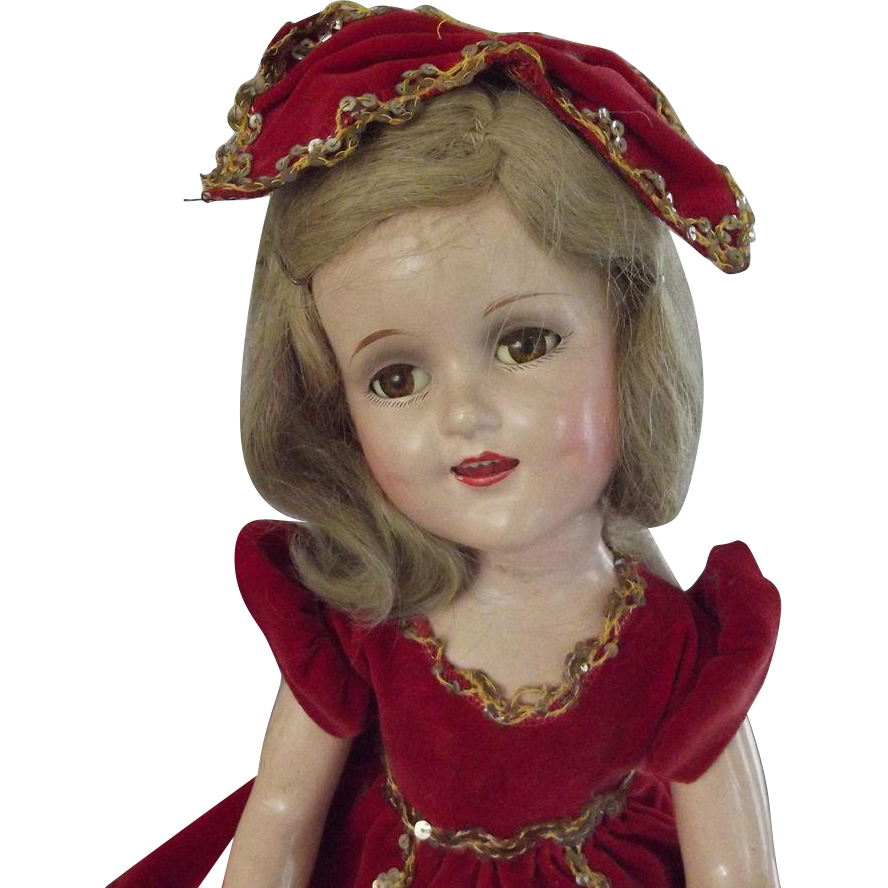Sonja Henie Doll With Extra Ski Outfit