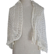 Crocheted Shawl, Delicate Needlework