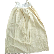 Long Wool and Cotton Baby Slip Good For Large Doll