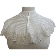 Large Fancy Victorian/Edwardian Collar, Tucks and Lace