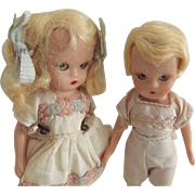 Hard Plastic Nacy Ann Storybook Pair Boy and Girl