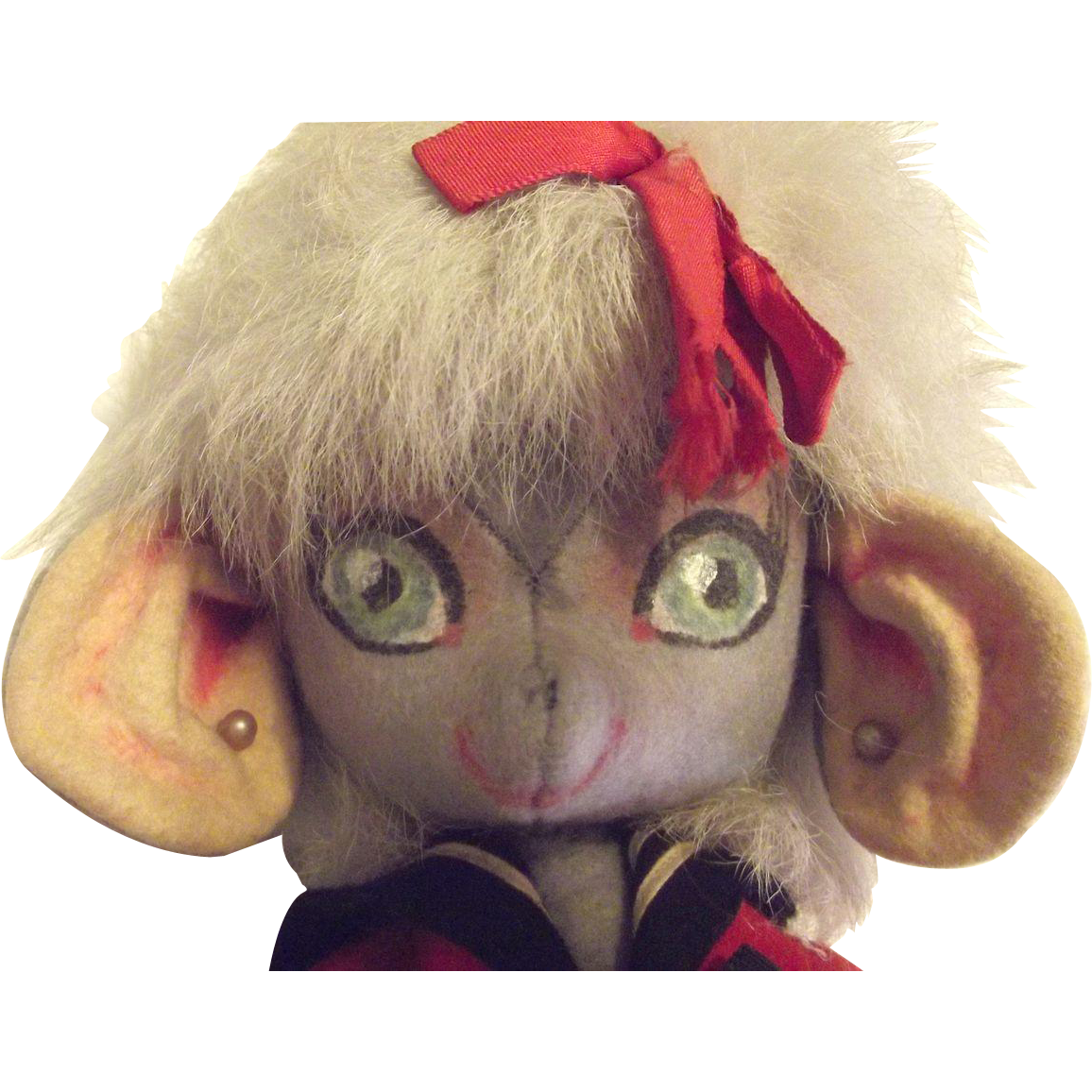 Felt Mouse Doll All Original Circa 1950