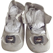 White Leather Doll Shoes