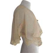 Net and Lace Stole, Shoulder Cover, Wrap