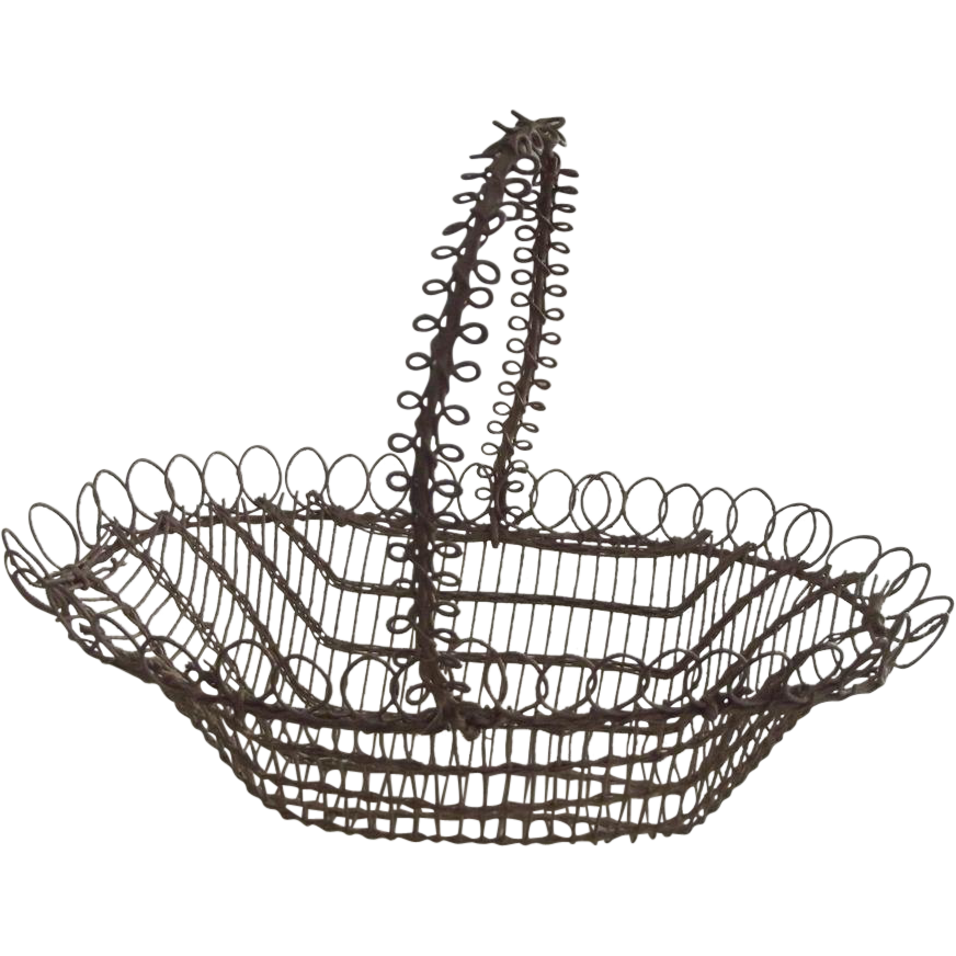 Early Fine Wire Basket, Small Size