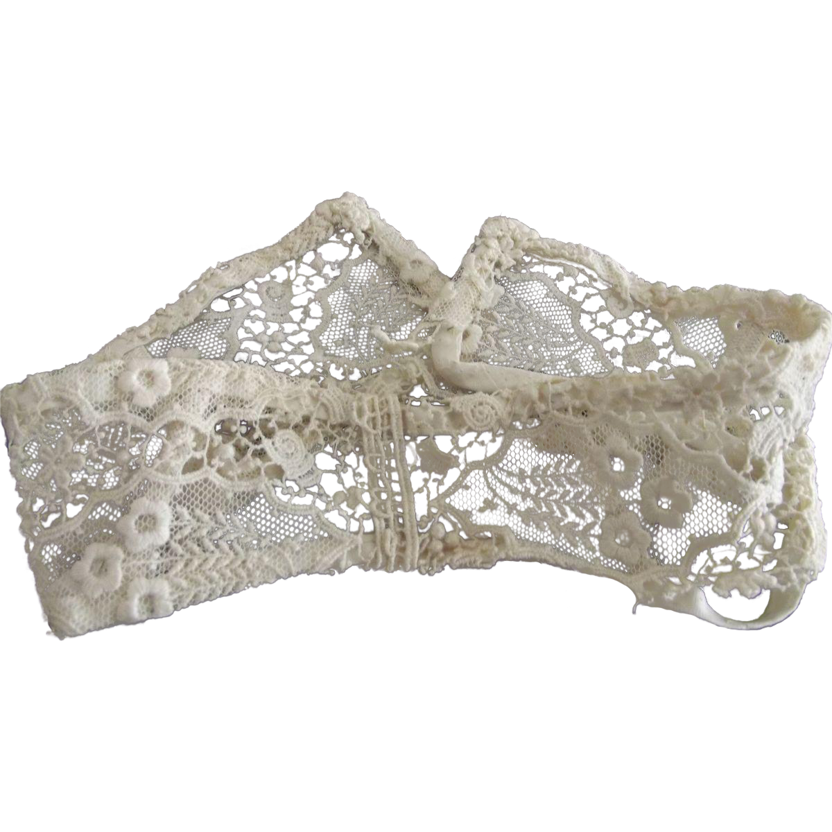 Victorian Collar With Stays, Lace, Netting and Flowers