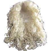Long Blonde Mohair Wig For Doll