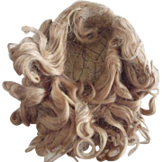Blonde Mohair Wig Off German Doll