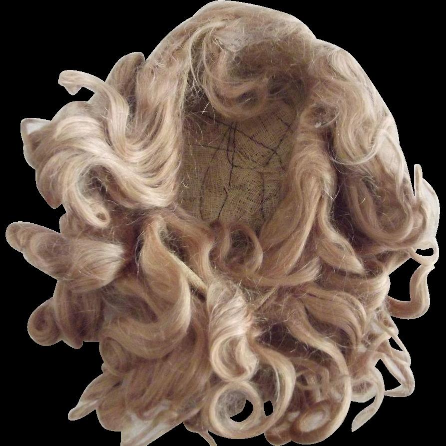 Blonde Mohair Wig Off German Doll