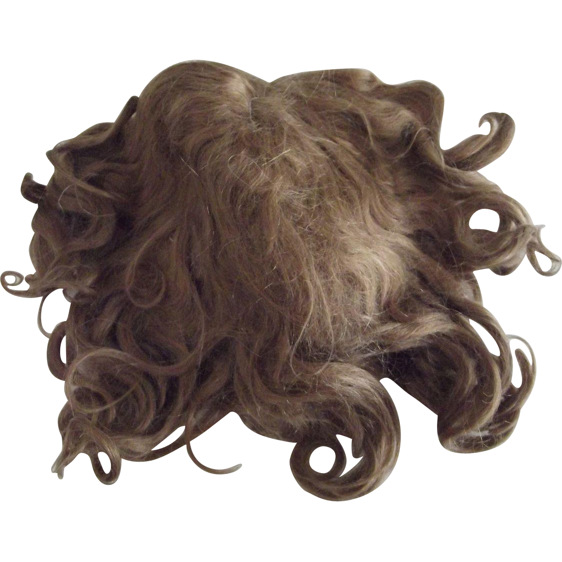Brown Mohair Wig From A Large German Doll