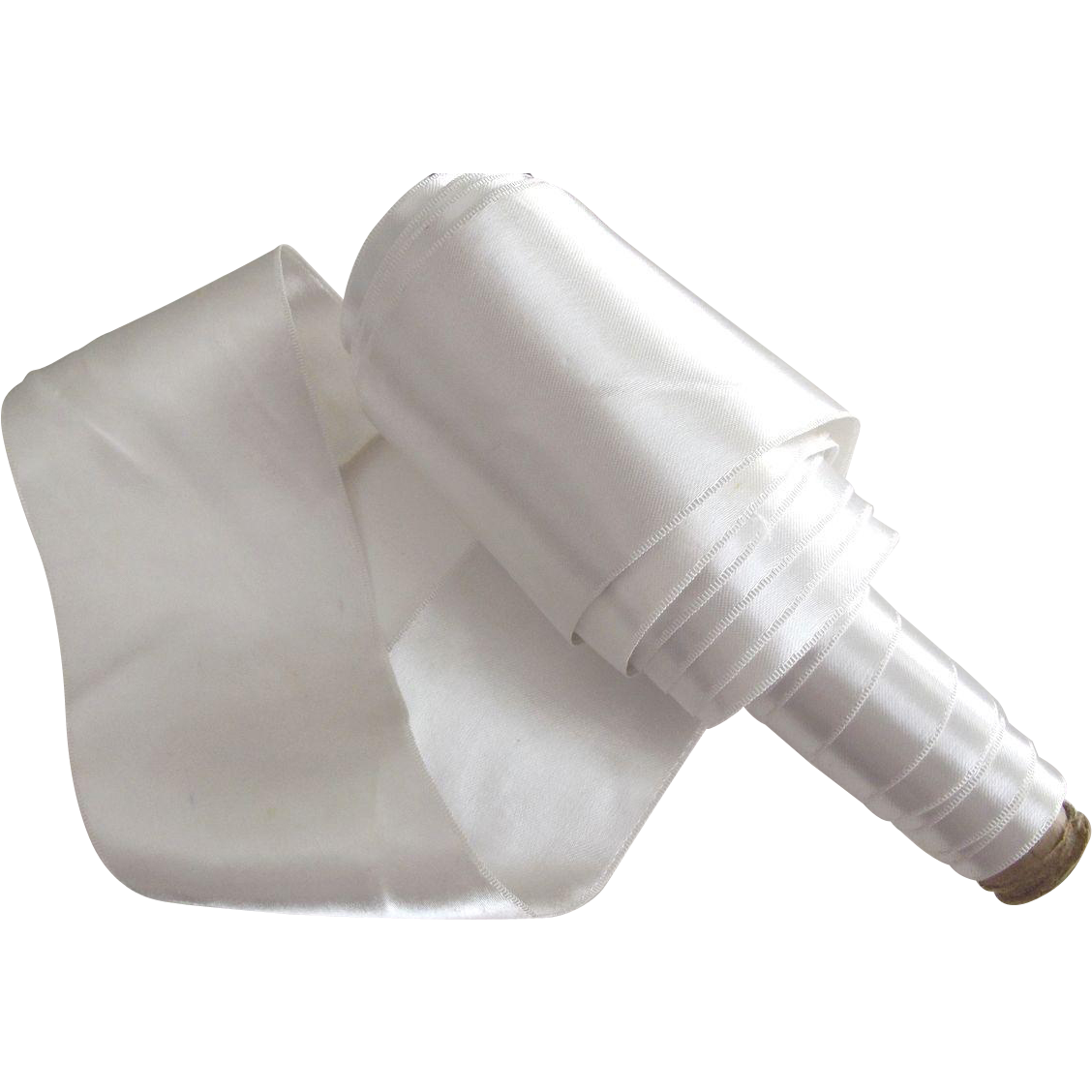White Wide Soft Satin Ribbon
