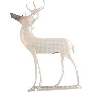German  Christmas  Blown Glass Stag In The Original Box