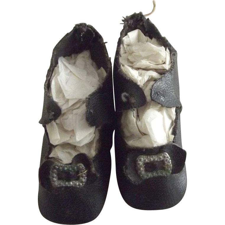 black doll shoes original toe trim from fhtv on ruby