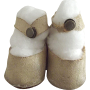 White Center Snap Doll Shoes Probably 30's or 40's