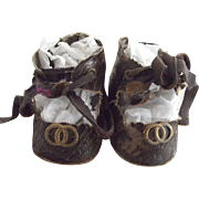 Faux Alligator Doll Shoes