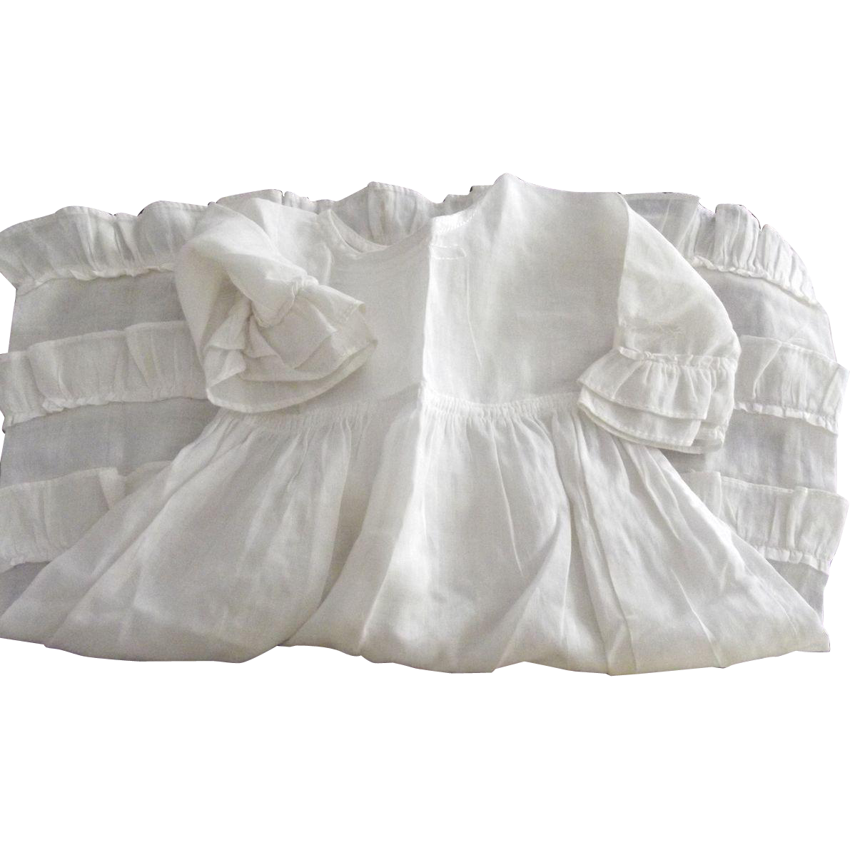 White Doll Dress With Ruffles