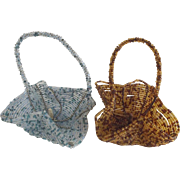 Pair of Vintage Beaded Baskets