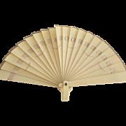Small Celluloid Fan Doll Sized