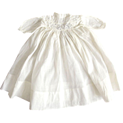 Early White Doll Dress With Eyelet