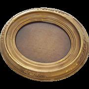 Round Gold Victorian Frame