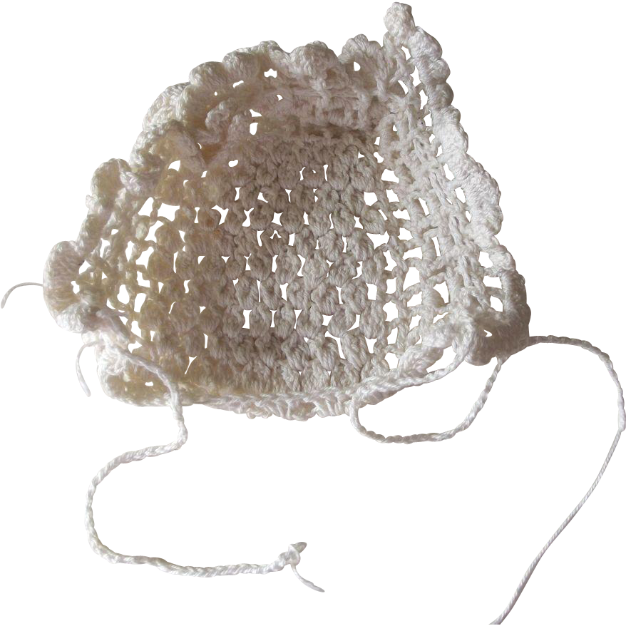 Crocheted Doll Bonnet