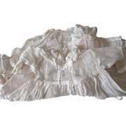 Organdy Doll Dress With Ruffles and Lace