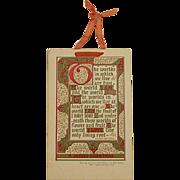 Victorian/Edwardian Ernest Nister Christmas Postcard