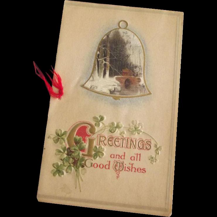 Victorian/Edwardian Christmas Greeting Card