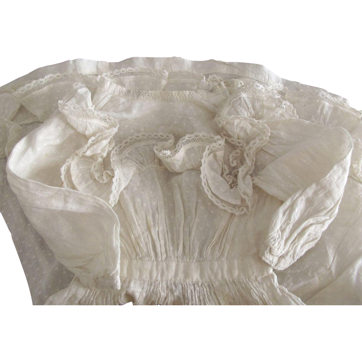 Fine Cotton Ruffled  Doll Dress