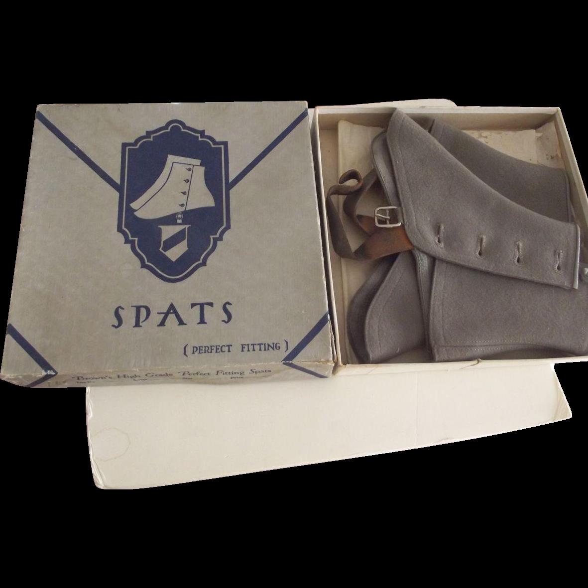 Men's Grey Spats In Original Box