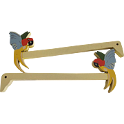 Curtain Holders With Colorful Parrots In Original Box