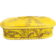 Royal Crown Derby Alfred Pearce Yellow and Gold Covered Box