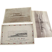 Three Postcards of Ships