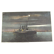 Night Scene of The U.S. Battleship Virginia