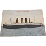 Cunard Line S.S. Mauretania - Red Tag Sale Item