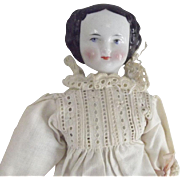 Small China Doll  1860's Hair Style