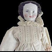 Small China Doll  1860's Hair Style