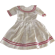 Vintage Polished Cotton Dress For An Old Doll
