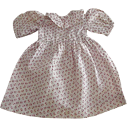 Hand and Machine Stitched Cotton Doll Dress