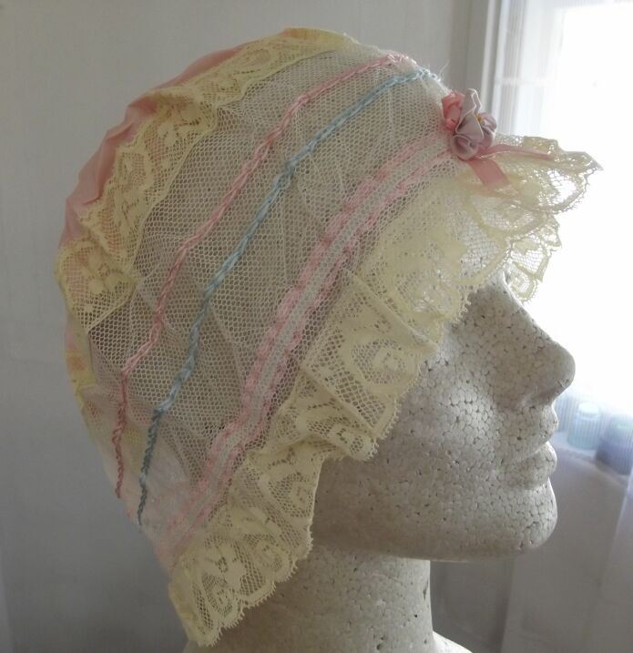 Pretty Old Sleep Bonnet