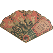 Art Nouveau/Art Deco Paper Funeral Fan From Brooklyn New York