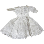 Cotton Eyelet Doll Dress