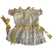 Organza Dress With Yellow Ribbons