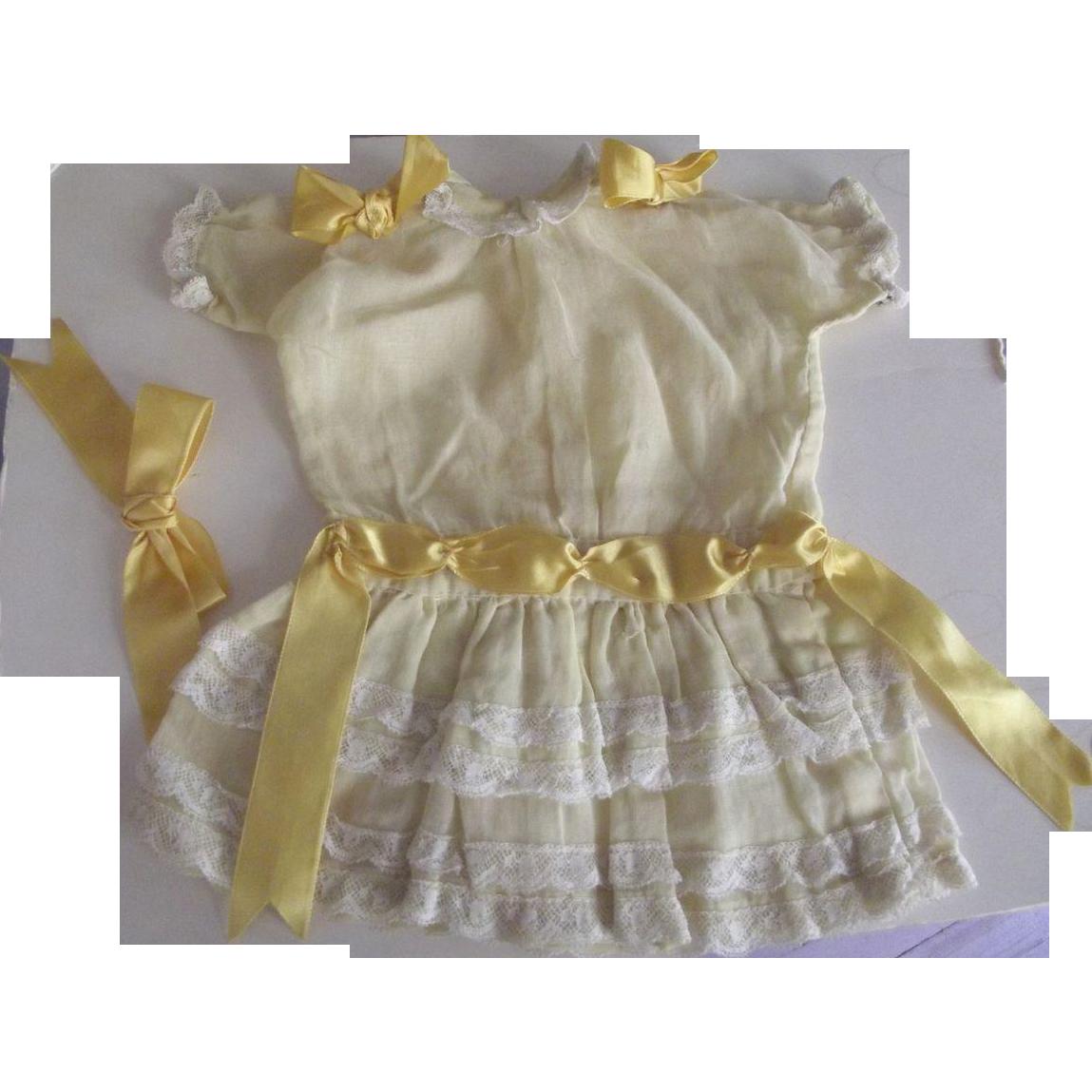 Organza Dress With Yellow Ribbons