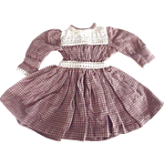 Old Style Cotton Doll Dress