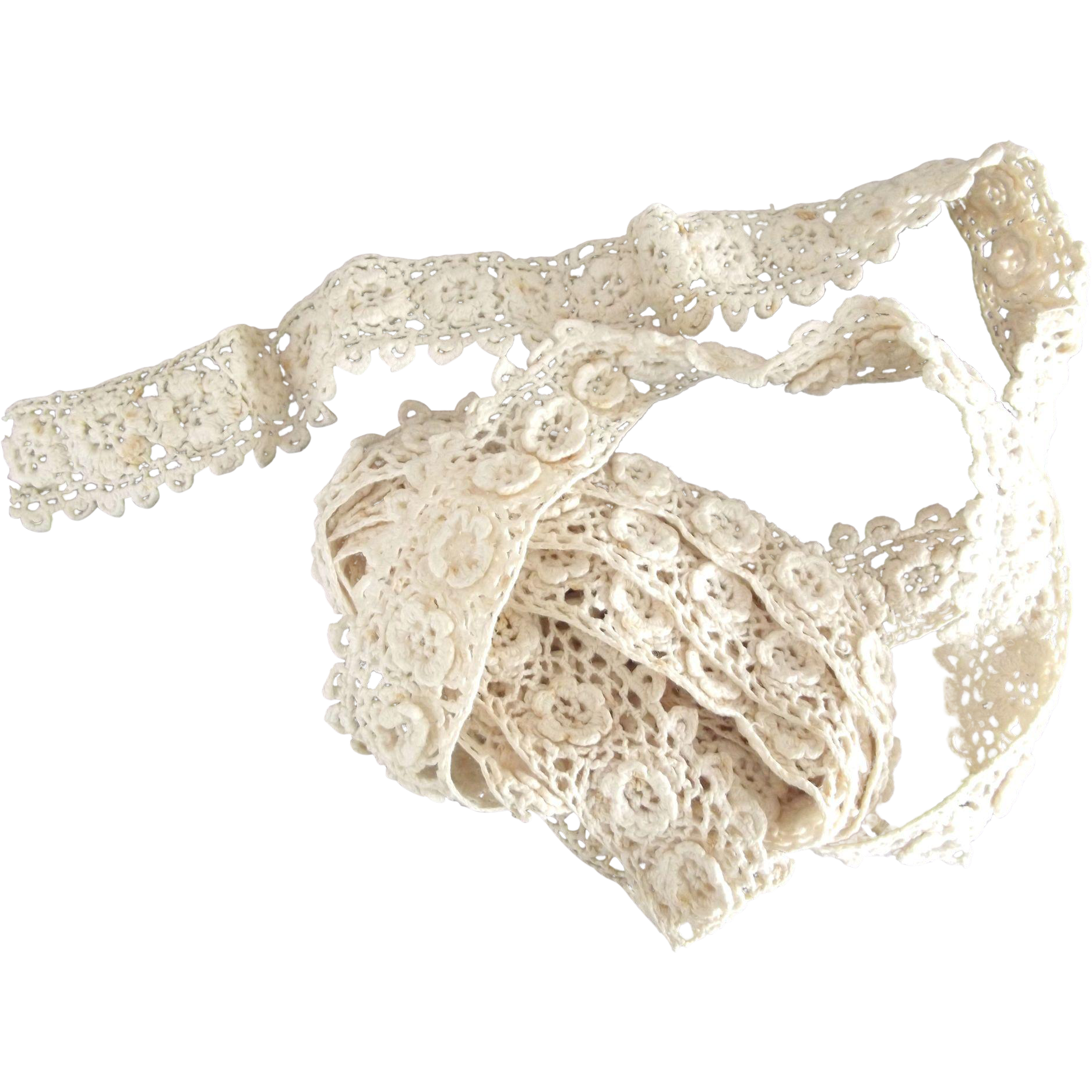 Cotton Lace With Rosettes