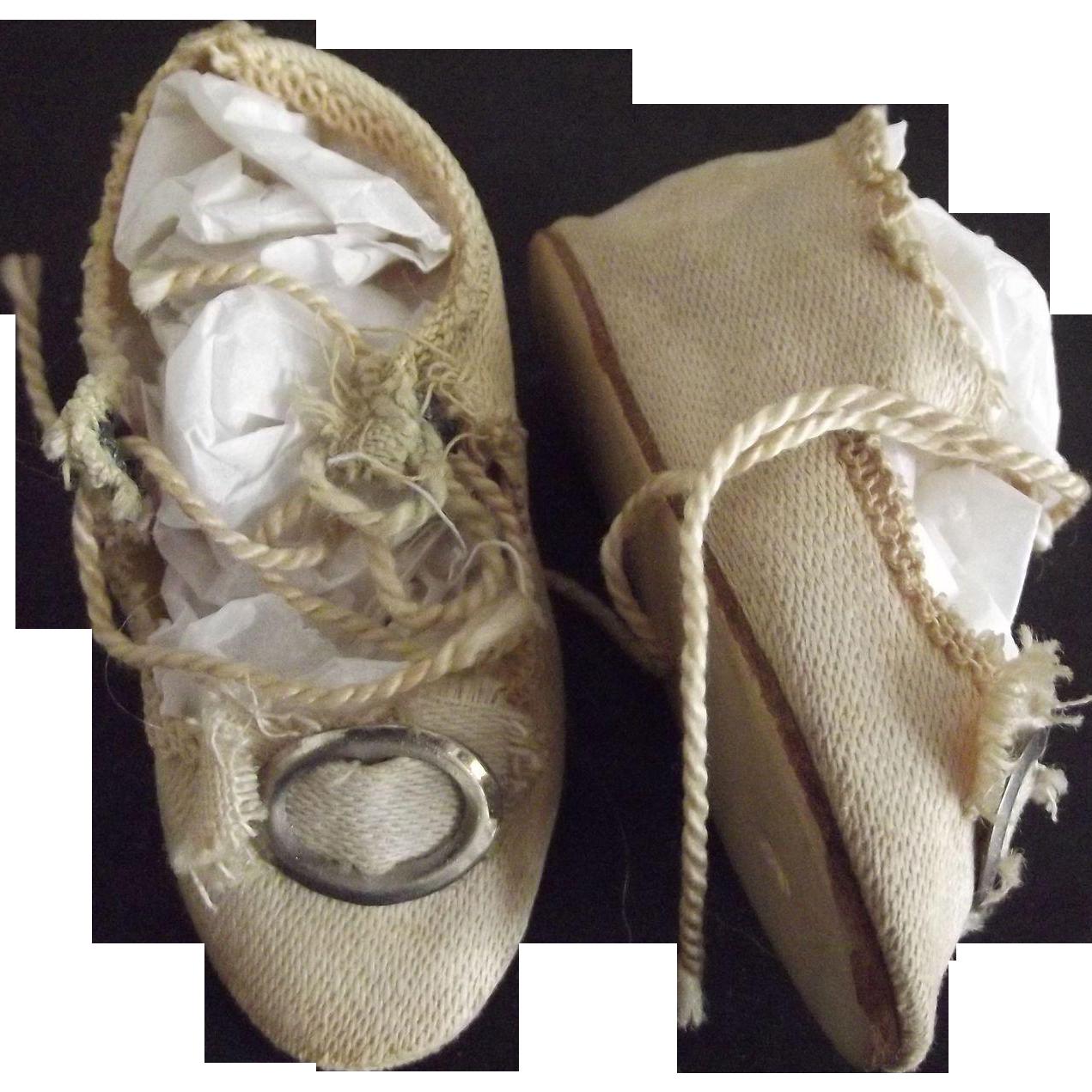 German Cloth  Doll Shoes