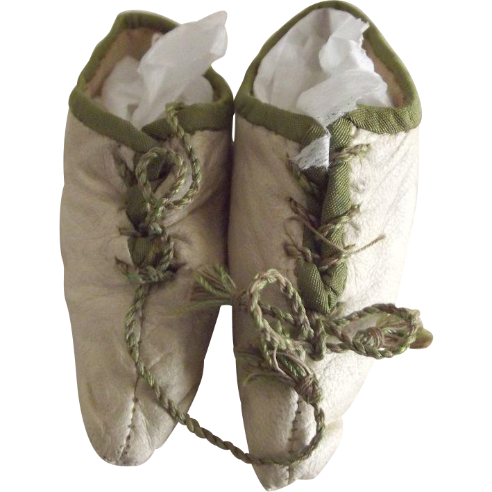 Early Leather Doll Boots