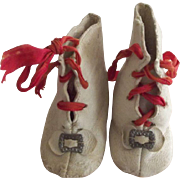White Leather Doll Boots