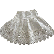 Doll Half Slip, Cotton  Eyelet
